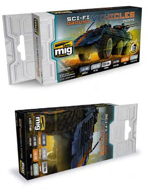 Sci-Fi Ground Vehicles Acrylic Paint Set (6 colors) AMMO of Mig Jimenez