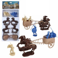 The War at Troy Set #2 Figure Playset (3ea Greeks/Trojans, 4 Horses, 2 Chariots) (Bagged) (LOD Enterprises) 1/32 Playsets