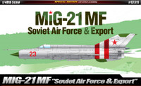 MiG-21MF Soviet Air Force & Export Supersonic Jet Fighter 1/48 Academy