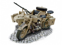 BMW R75 German Military Motorcycle w/Sidecar 1/9 Italeri