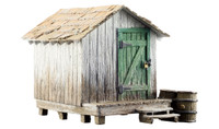Built-N-Ready Wood Shack O Scale Woodland Scenics