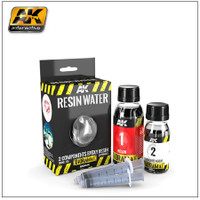Diorama Series: Resin Water 2-Part Components Epoxy for Clear Water Effect 180ml AK Interactive