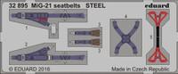Seatbelts MiG-21 Steel (Painted) 1/32 Eduard