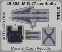 Seatbelts MiG-27 Steel for TSM (Painted) 1/48 Eduard