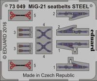 Seatbelts MiG-21 Steel (Painted) 1/72 Eduard