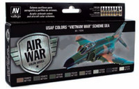 USAF Vietnam War SEA (South East Asia) Model Air Paint Set (8 Colors) 17ml Vallejo Paint