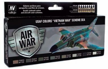 USAF Vietnam War SEA (South East Asia) Model Air Paint Set (8 Colors) 17ml Vallejo Paint