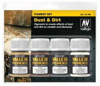 Dust & Dirt Pigment Powder Set (4 Colors) 30ml Vallejo Paint