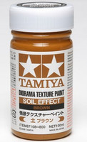Diorama Texture Soil Effect Brown Paint (100ml Bottle) Tamiya