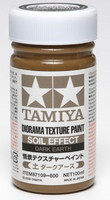 Diorama Texture Soil Effect Dark Earth Paint (100ml Bottle) Tamiya