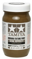 Diorama Texture Soil Effect Dark Earth Paint (250ml Bottle) Tamiya