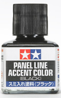 Black Panel Line Accent Color (40ml Bottle) Tamiya