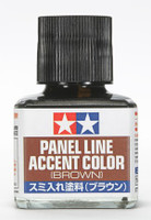 Brown Panel Line Accent Color (40ml Bottle) (6/Bx) Tamiya