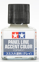 Gray Panel Line Accent Color (40ml Bottle) (6/Bx) Tamiya