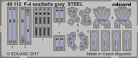 Seatbelts F-4 Grey Steel (Painted) 1/48 Eduard