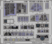 F14A Interior for TAM (Painted) 1/48 Eduard