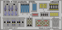 Seatbelts F-14A Steel for TAM (Painted) 1/48 Eduard