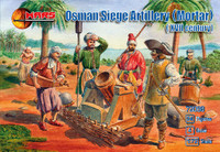 XVII Century Osman Siege Artillery (Mortar) (24 w/4 Guns) 1/72 Mars Models
