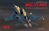 MiG-25RBT Soviet Recon Aircraft 1/48 ICM Models
