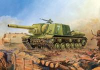 Soviet ISU-152 Assault Gun Tank (Snap) 1/100 Zvezda