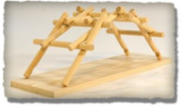 Leonardo DaVinci 15th Century Emergency Bridge Wooden Kit Pathfinders