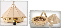Leonardo DaVinci 15th Century Armored Tank Wooden Kit Pathfinders