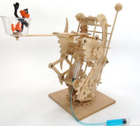Hydraulic Gearbot Wooden STEM Activity Kit Pathfinders