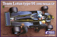 1982 Lotus Type 91 Team Lotus F1 British Grand Prix Race Car 1/20 Ebbro Plastic Model Kits