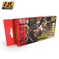 Figure Series: Yellow Uniform Colors Acrylic Paint Set (6 Colors) 17ml Bottles AK Interactive