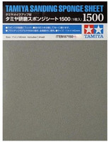 "Sanding Sponge Sheet 4.5""x5.5"" (5mm thick) 1500 Grit Tamiya"