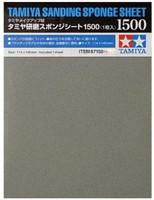 "Sanding Sponge Sheet 4.5""x5.5"" (5mm thick) 1500 Grit Tamiya"
