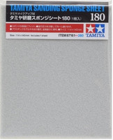 "Sanding Sponge Sheet 4.5""x5.5"" (5mm thick) 180 Grit Tamiya"