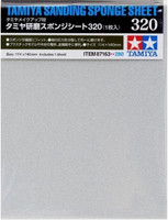 "Sanding Sponge Sheet 4.5""x5.5"" (5mm thick) 320 Grit Tamiya"
