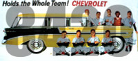 Chevrolet Holds the Whole Team! Vintage Billboard HO Scale Tichy Trains