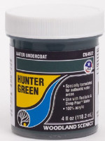 Water Undercoat - Hunter Green (4 fl.oz.) Woodland Scenics
