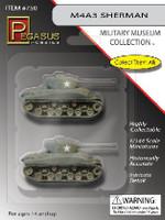 M4A1 76(W) Sherman Tank (2) (Assembled) 1/144 Pegasus