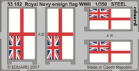 Royal Navy Ensign Flag WWII Steel (Painted) 1/350 Eduard