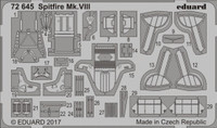 Spitfire Mk VIII for EDU 1/72 Eduard