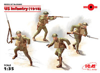 WWI US Infantry 1918 (4) 1/35 ICM Models