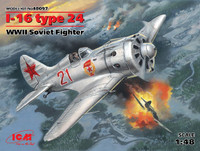 WWII Soviet I-16 Type 24 Fighter 1/48 ICM Models