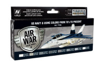 Air War Series: US Navy and USMC Colors 70's to Present Paint Set Vallejo