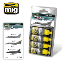 French Modern Jets Acrylic Paint Set (4 colors) AMMO of Mig Jimenez