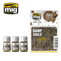 Damp Soils Mud & Earth Sets (3 colors) AMMO of Mig Jimenez