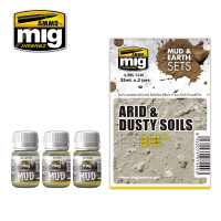 Arid and Dustsy Soils Mud & Earth Sets (3 colors) AMMO of Mig Jimenez