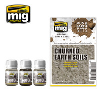 Churned Earth Soils Mud & Earth Sets (3 colors) AMMO of Mig Jimenez