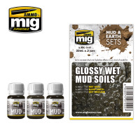 Glossy Wet Mud Soils Mud & Earth Sets (3 colors) AMMO of Mig Jimenez