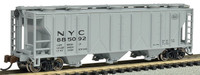 PS2 3-Bay Covered Hopper New York Central N Scale Bachmann