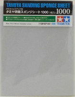 "Sanding Sponge Sheet 4.5""x5.5"" (5mm thick) 1000 Grit Tamiya"
