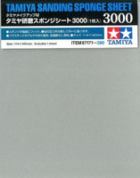 "Sanding Sponge Sheet 4.5""x5.5"" (5mm thick) 3000 Grit Tamiya"