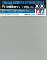 "Sanding Sponge Sheet 4.5""x5.5"" (5mm thick) 3000 Grit Tamiya"